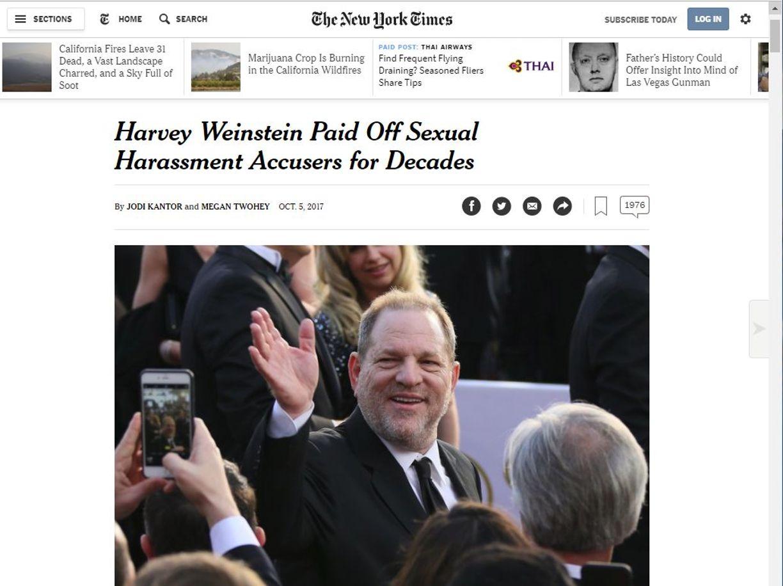 Lo scandalo weinstein perch difficile denunciare da for Resoconto tratto da articoli di giornali