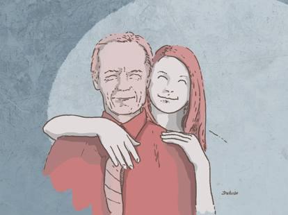 Quando una donna anziana che esce con un uomo più giovane